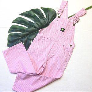 John Deere Overall 6Y Cute Pink White Stripe 1021